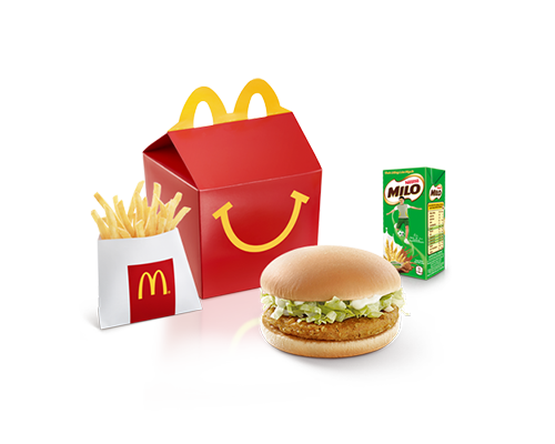 Happy Meal Burger Gà